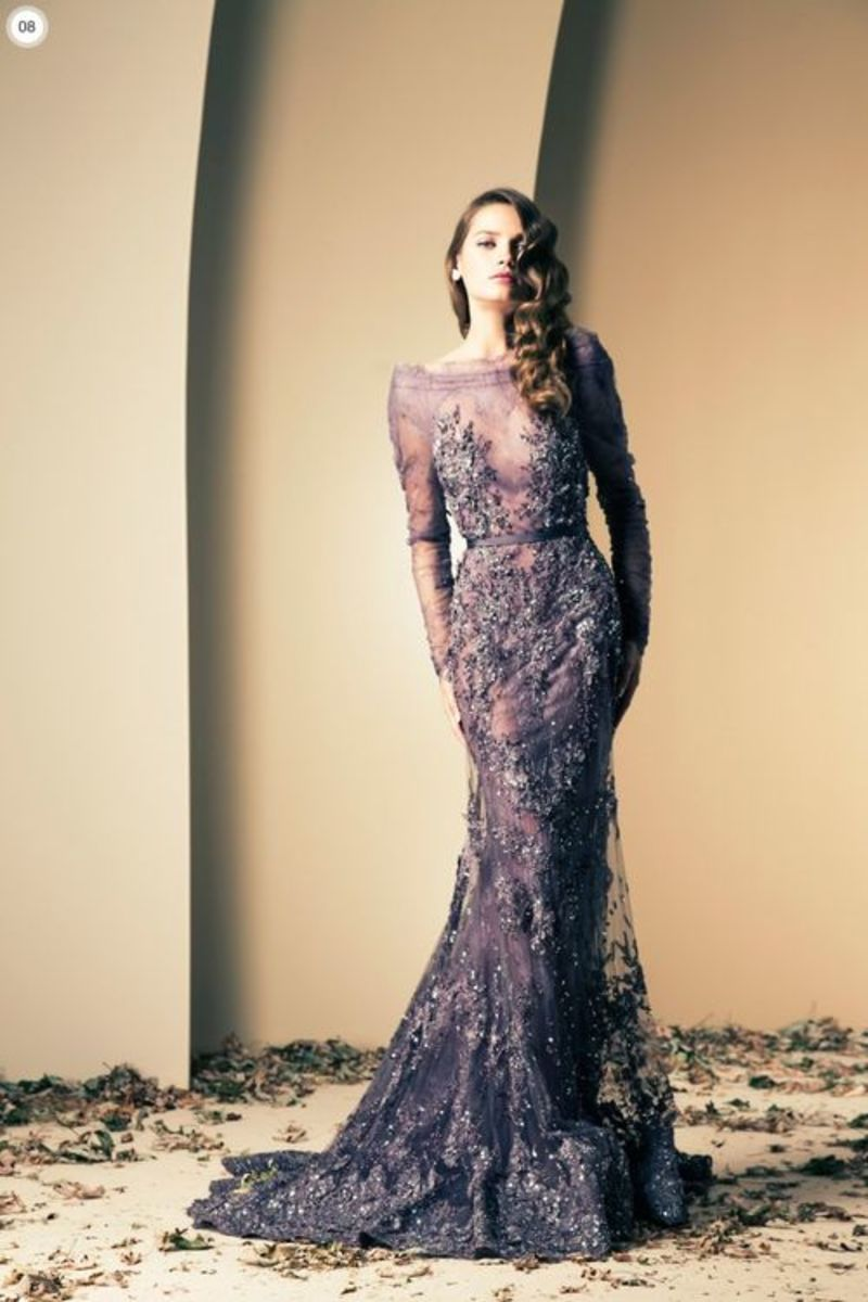 Gorgeous Model flaunting an exquisite gown by famous fashion desinger from Lebanon