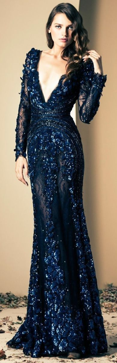Out of this world Gown in navy blue