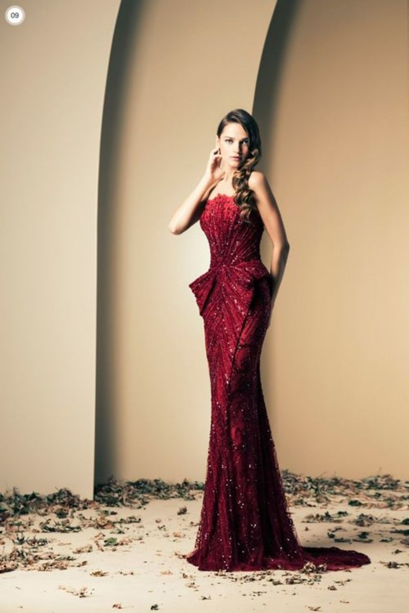 The absolutely stunning Ruby Red Gown which was also worn by Nicole Scherzinger, the singer.