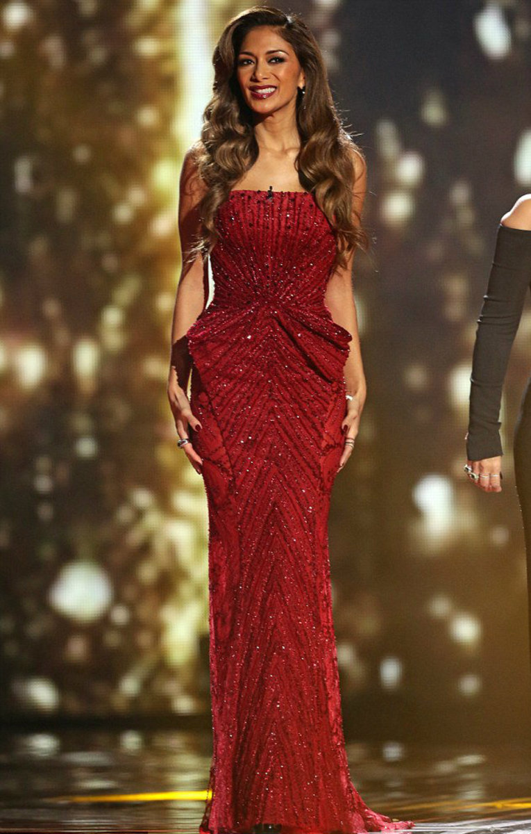Nicole Scherzinger, the famous singer, has been seen sporting one of Nakad's beautiful haute couture gowns in the X-Factor Finale.