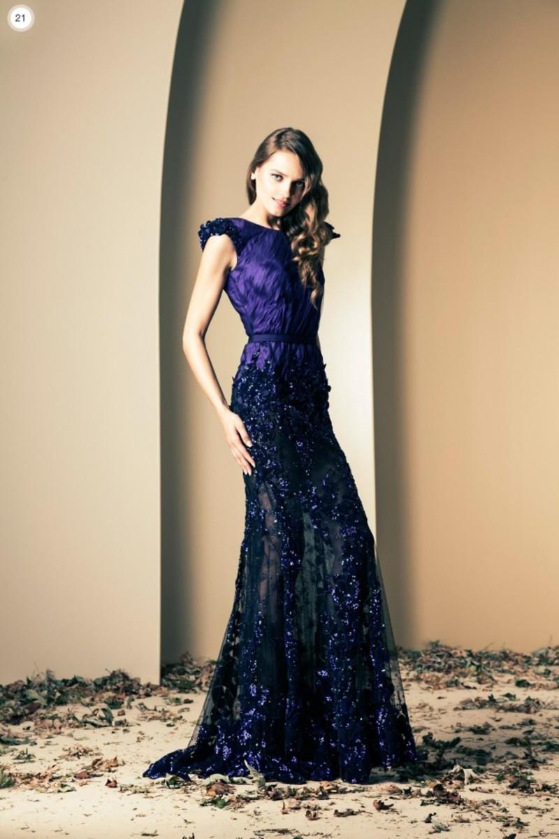 stunning Indigo-blue gown