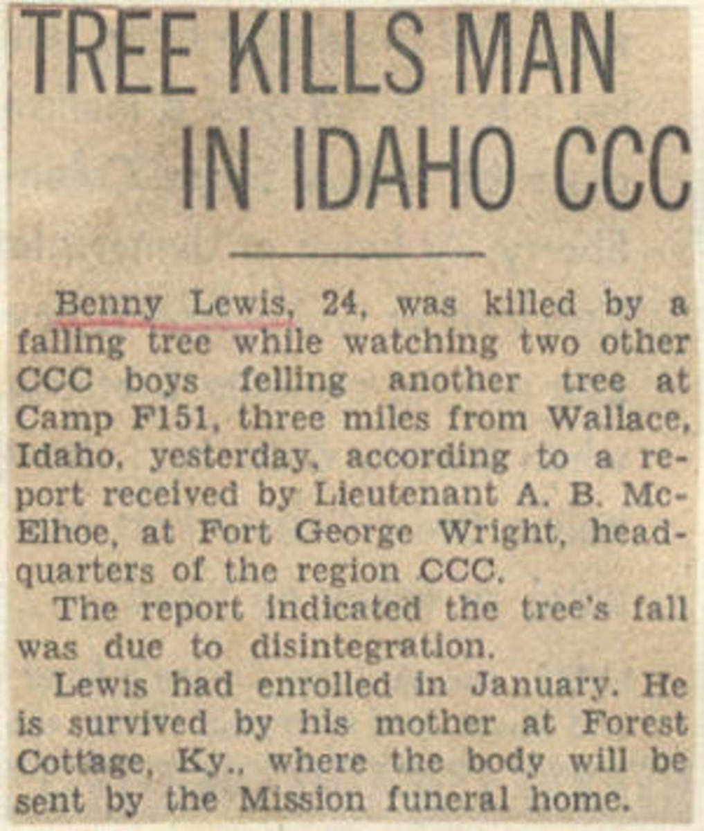 Newspaper clipping announcing his death. Even though it only mentions his mother, he was also survived by his father and several siblings, including my grandmother.