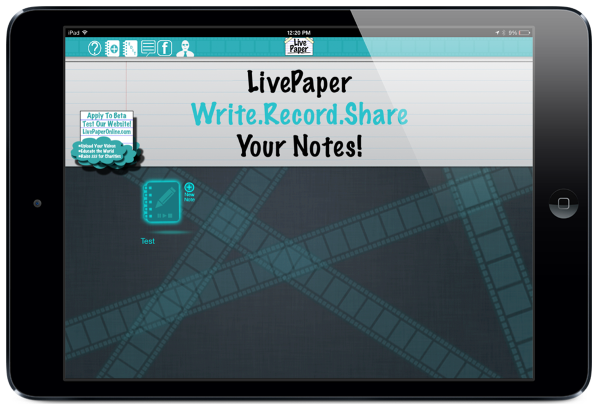LivePaper screenshot by Jonathan Wylie