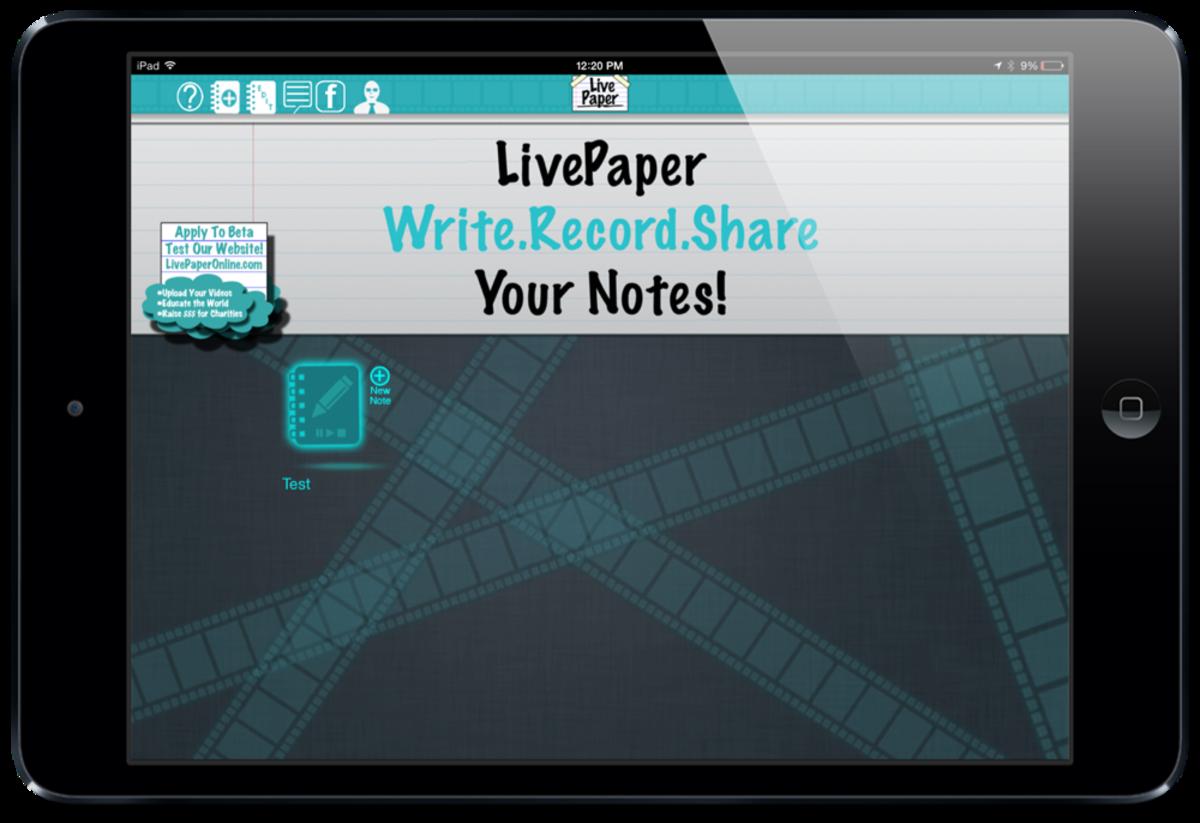 LivePaper screenshot by Jonathan Wylie