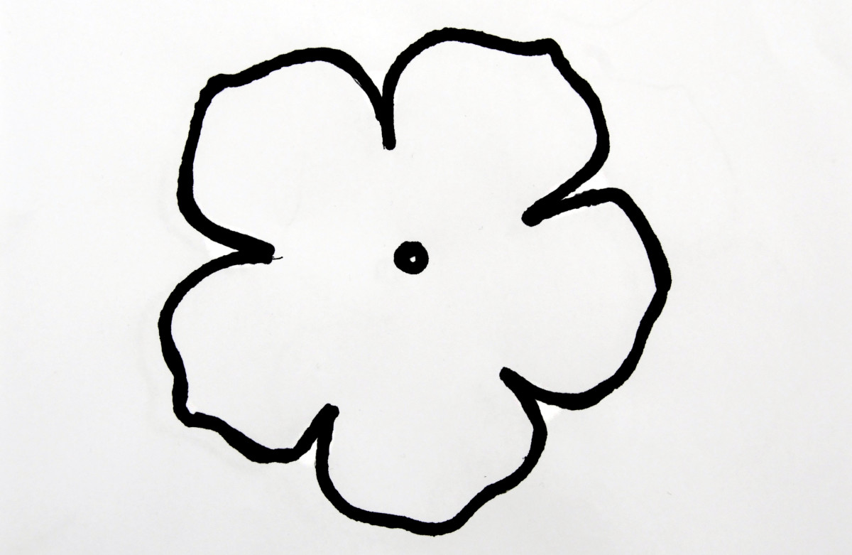 A template for a rose