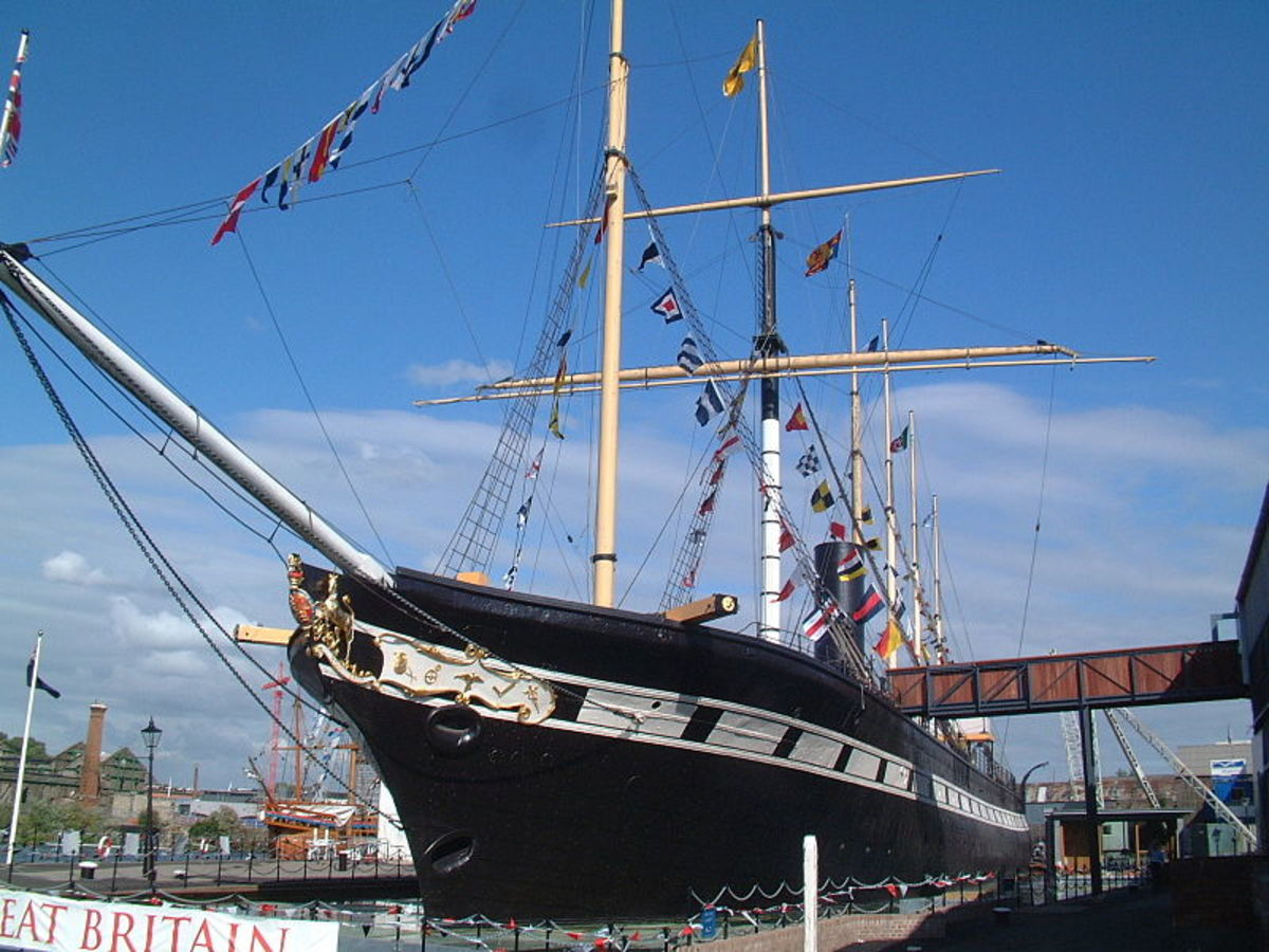 SS Great Britain in dry dock at Bristol in 2005.