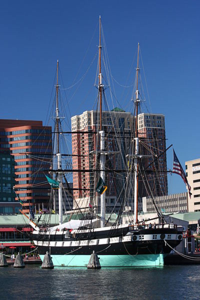 USS Constellation (1854) at Inner Harbor.