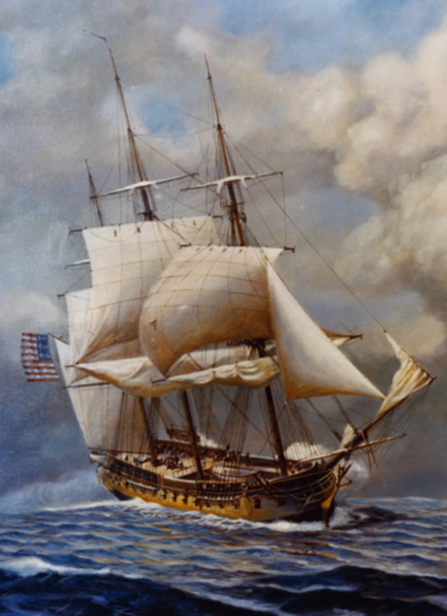USS Constellation (1797) by John W. Schmidt