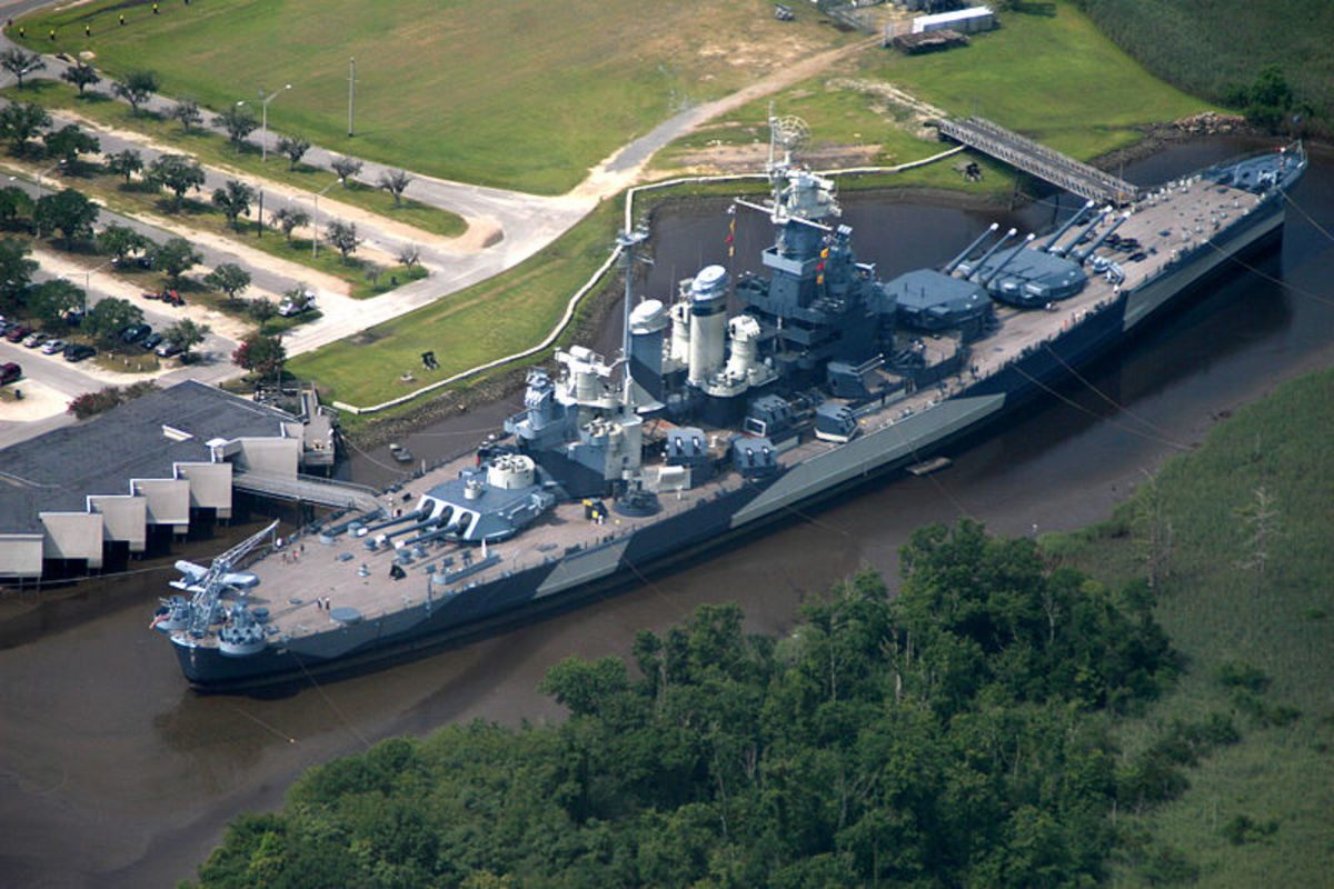 The U.S.S. North Carolina, a battleship and museum.