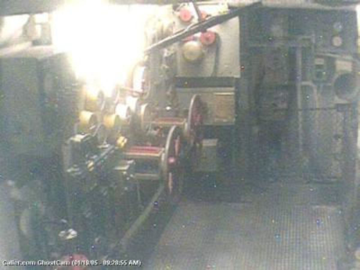 USS Lexington Ghost in the engine room.
