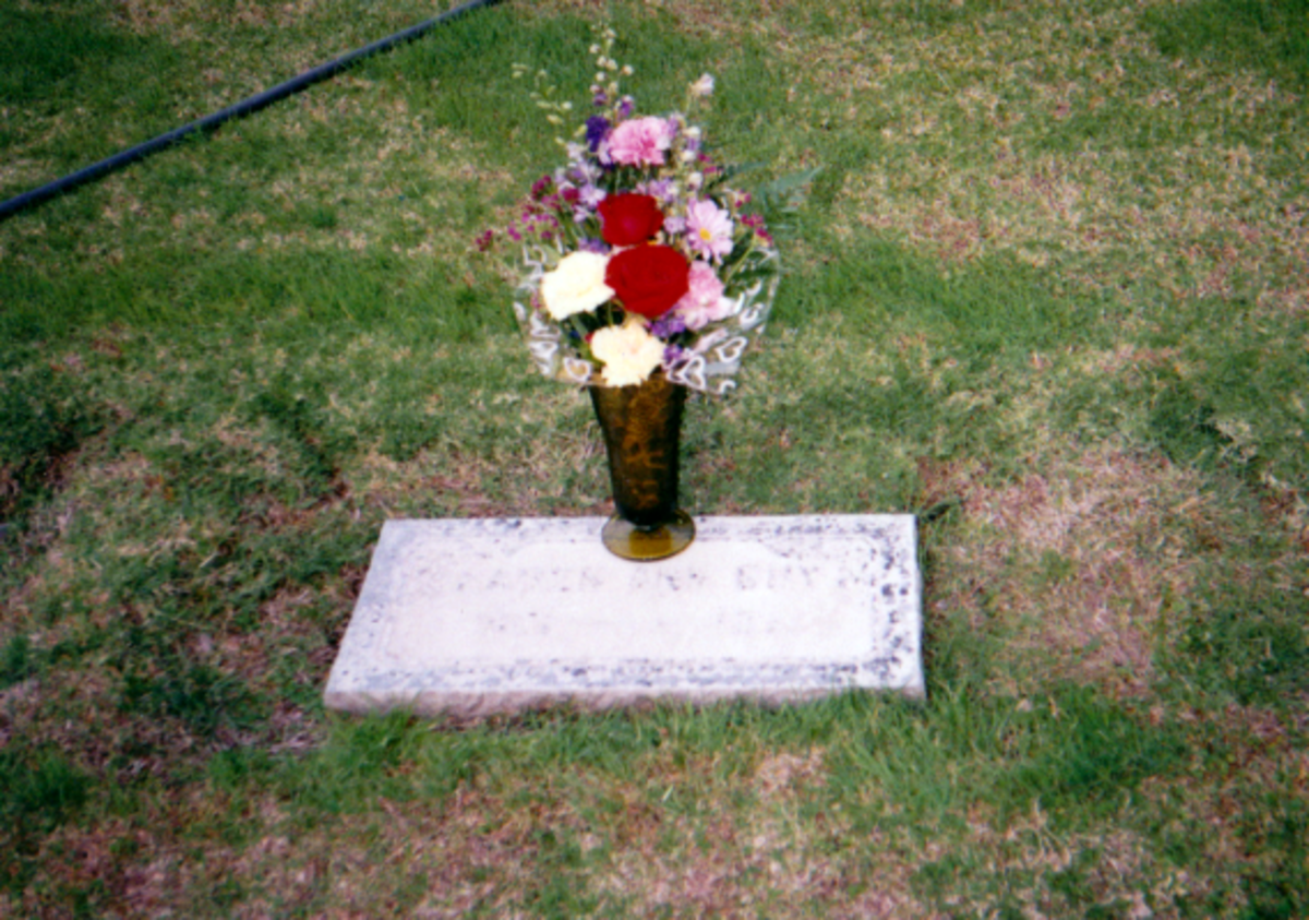 My eldest sister's grave.