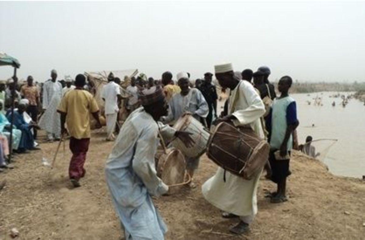 Native drummers at the Argungu fishing festival