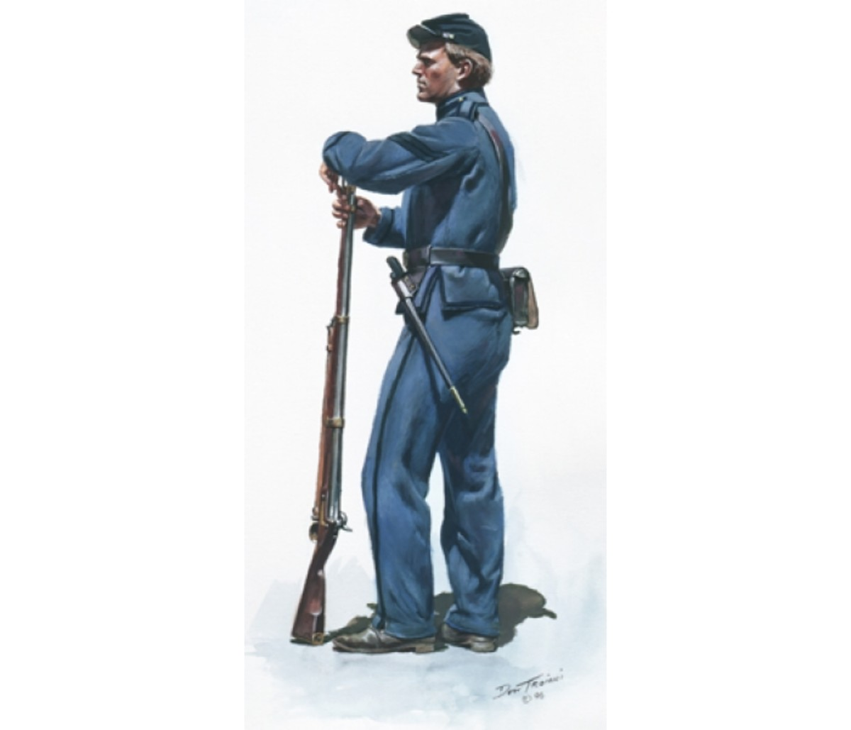 Painting - a Veteran Reserve Corps soldier, most likely in the First Battalion