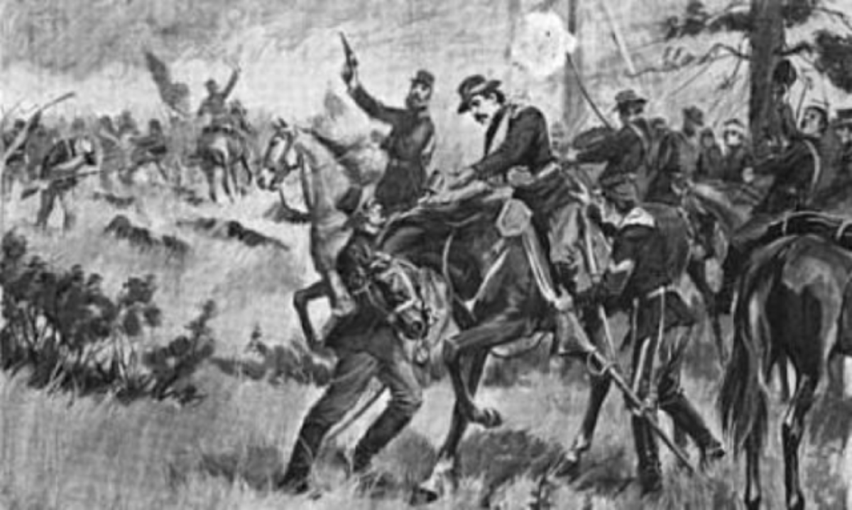 Sketch - wounded men begin to trickle back from the firing line