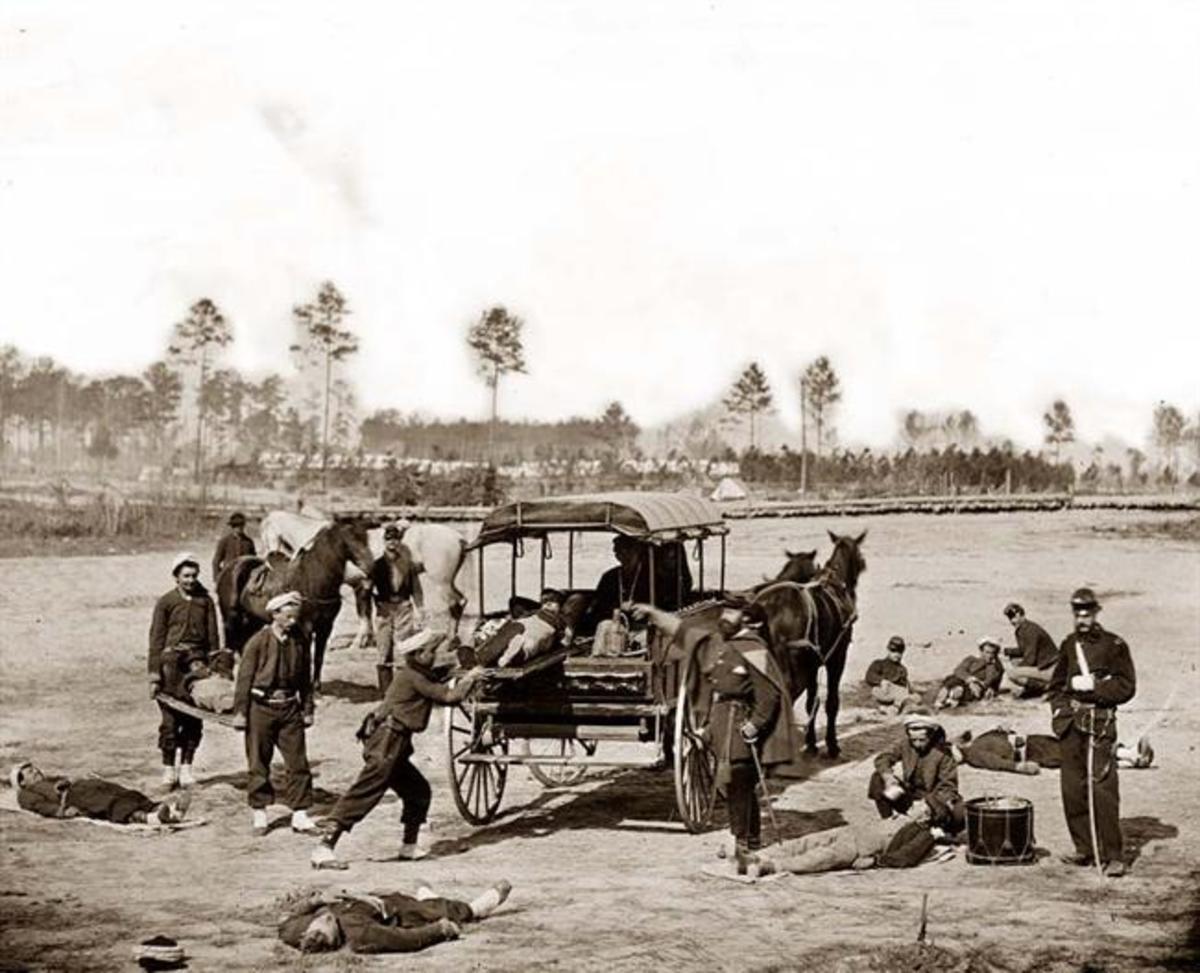 Troops at ambulance drill