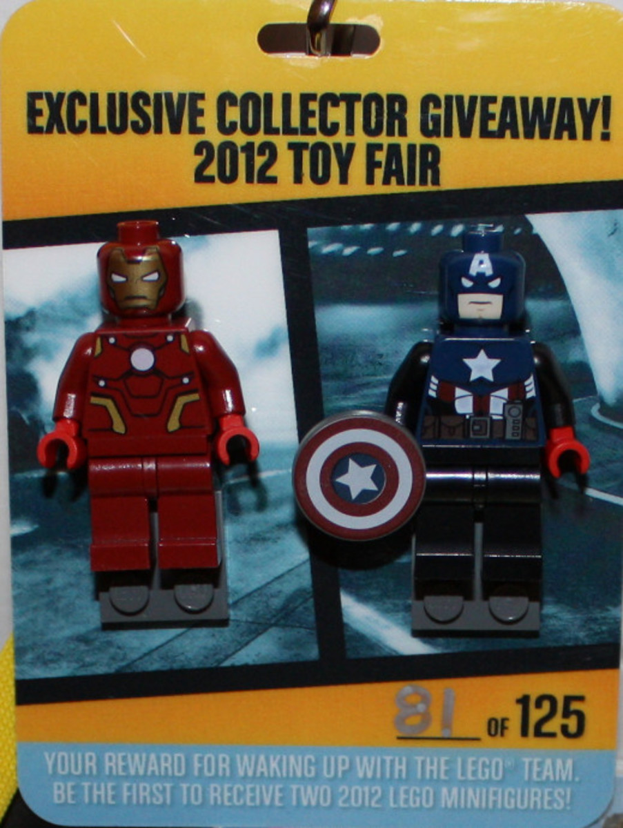 LEGO Super Heroes Iron Man and Captain America Minifigure LCP2012 Box