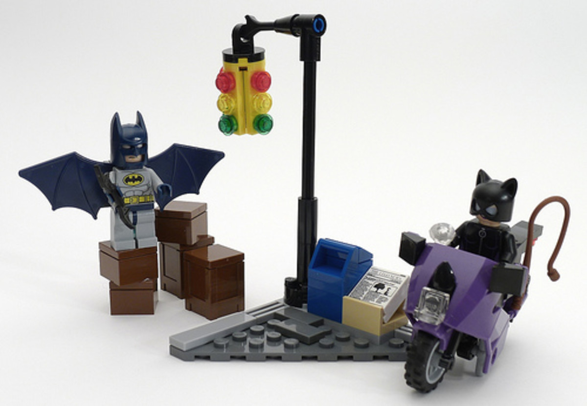 LEGO Super Heroes Catwoman Catcycle City Chase 6858 Assembled