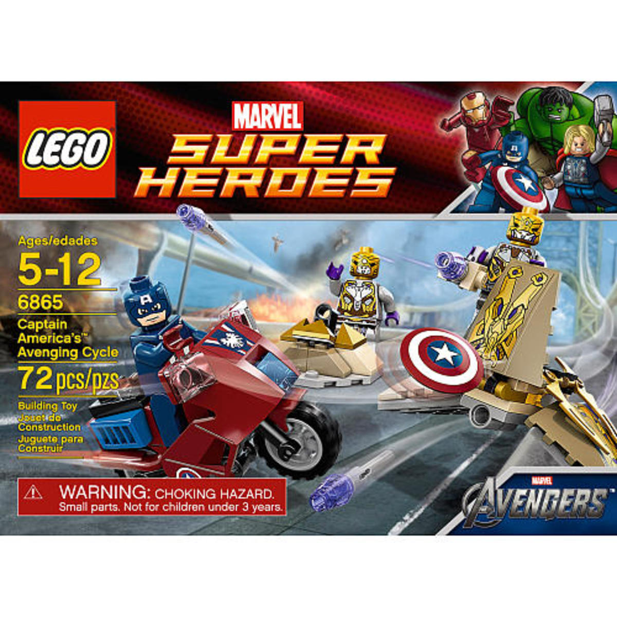 LEGO Captain America's Avenging Cycle 6865 Box