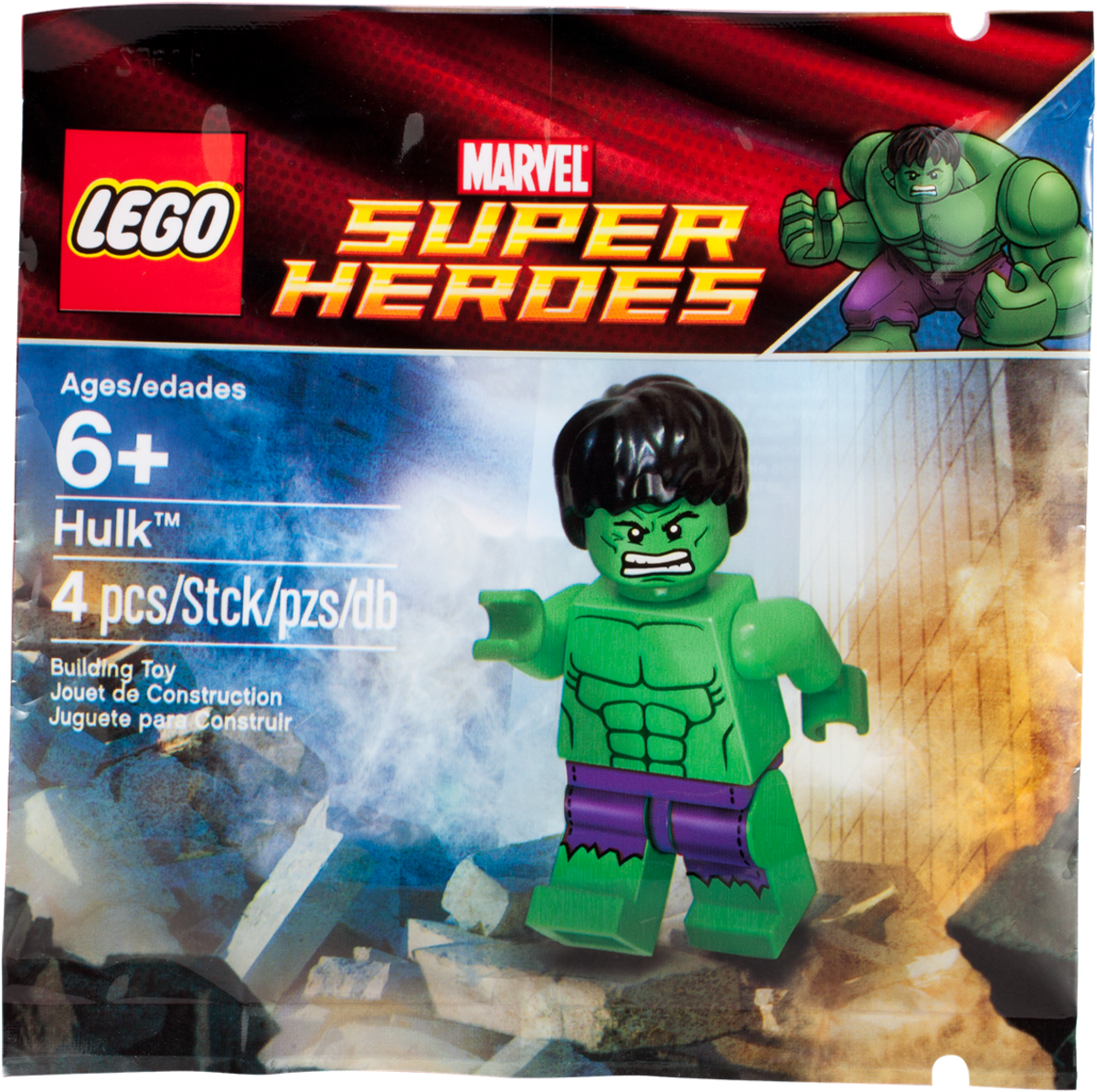 LEGO Super Heroes Hulk Minifigure 5000022 Polybag