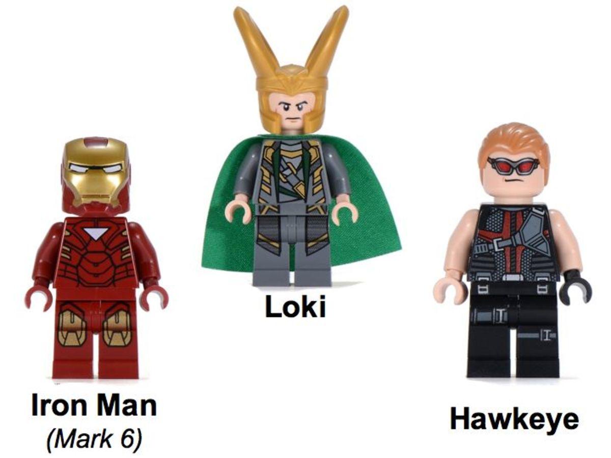 LEGO Super Heroes Loki's Cosmic Cube Escape 6867 Minifigures