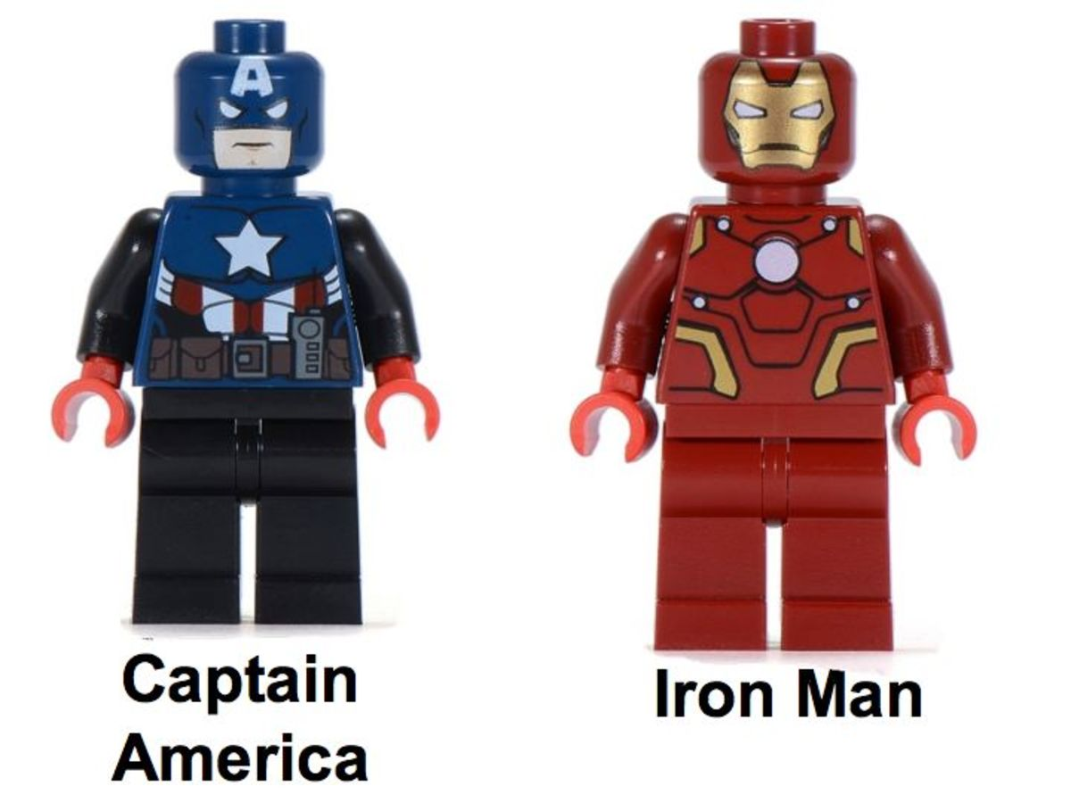 LEGO Super Heroes Iron Man and Captain America Minifigure LCP2012