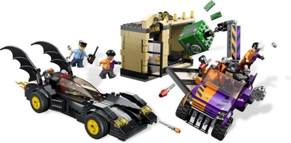 LEGO Super Heroes Batmobile and The Two-Face Chase 6864 Assembled