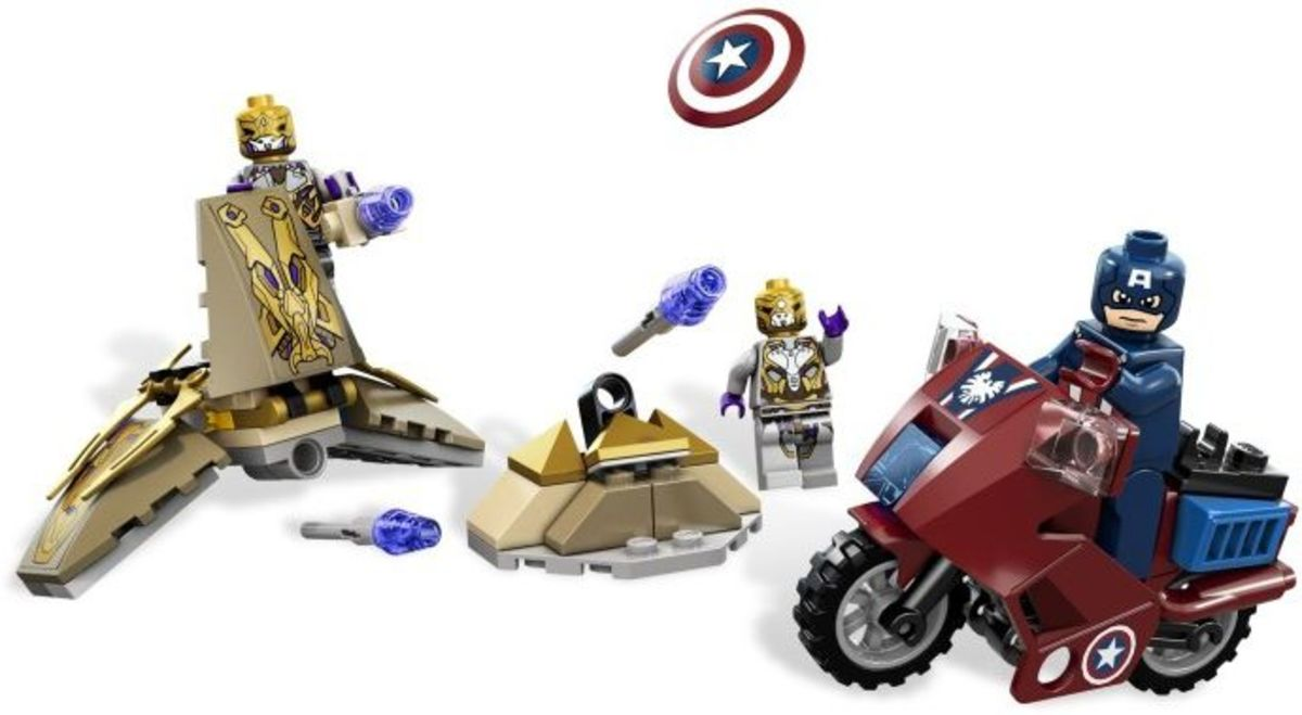 LEGO Captain America's Avenging Cycle 6865 Assembled