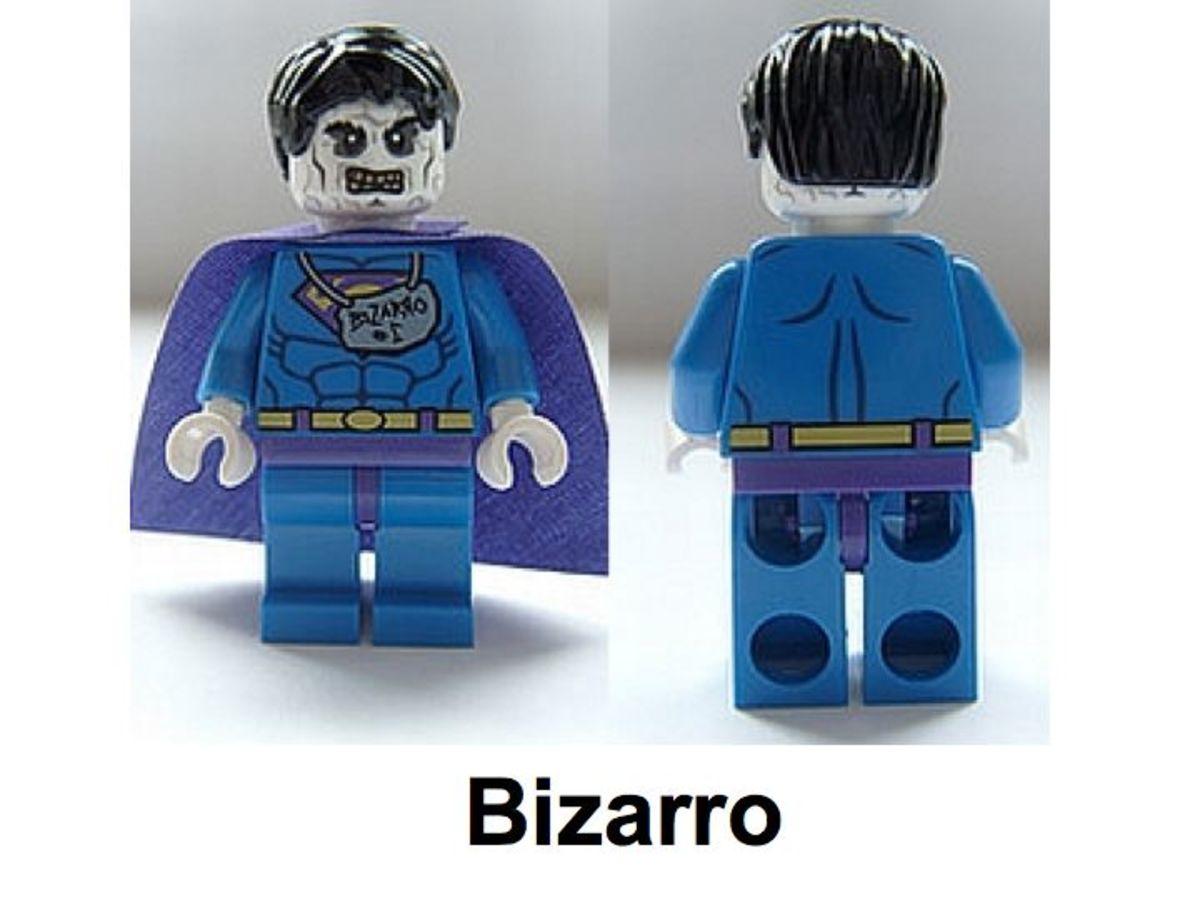 LEGO Super Heroes Bizarro Minifigure Assembled