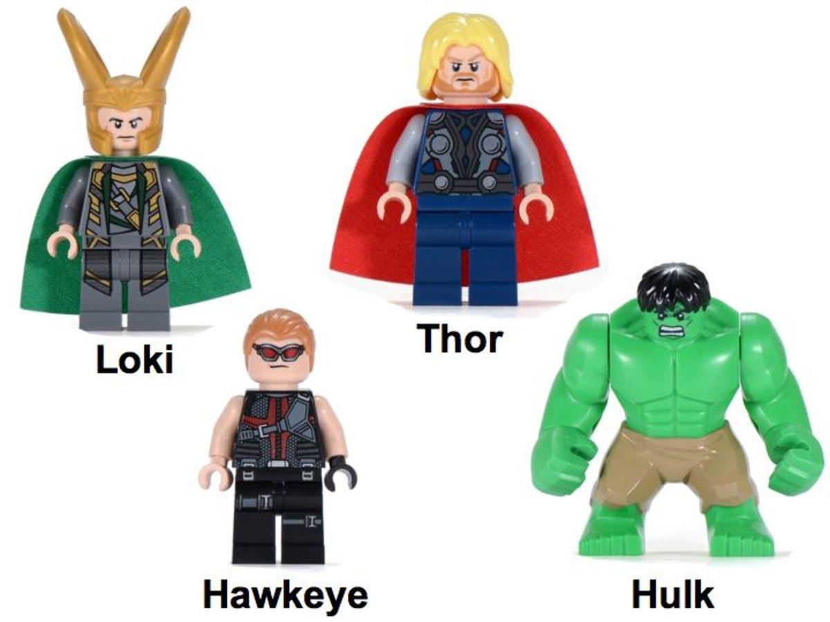 LEGO Super Heroes Hulk's Helicarrier Breakout Minifigures