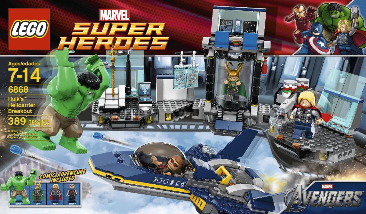 LEGO Super Heroes Hulk's Helicarrier Breakout 6868 Box