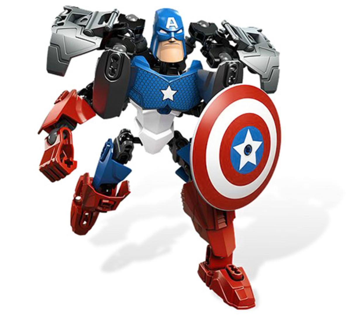 LEGO Ultrabuild Captain America 4597 Assembled