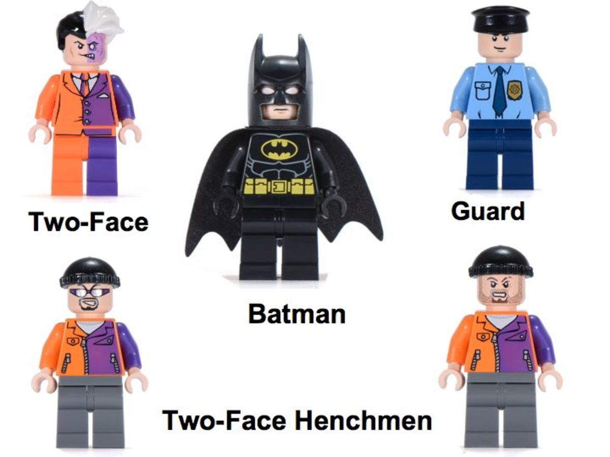 LEGO Super Heroes Batmobile and The Two-Face Chase 6864 Minifigures