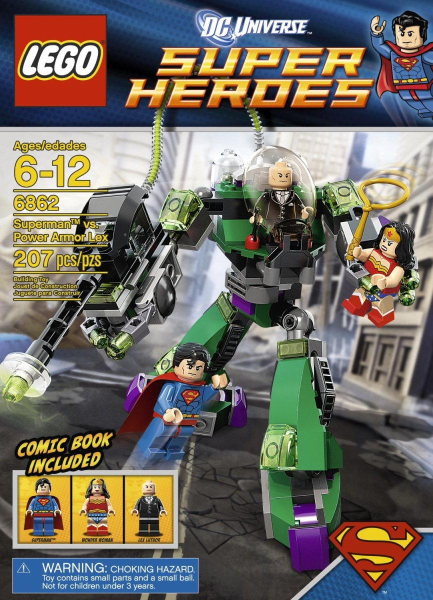 LEGO Super Heroes Superman vs. Power Armor Lex 6862 Box