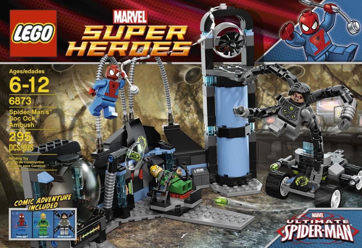 LEGO Super Heroes Spider-Man's Doc Ock Ambush 6873 Box