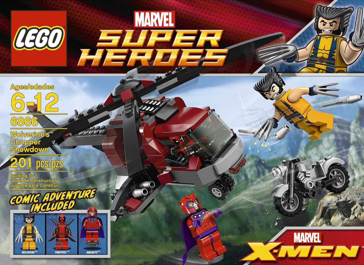 LEGO Super Heroes Wolverine's Chopper Showdown 6866 Box