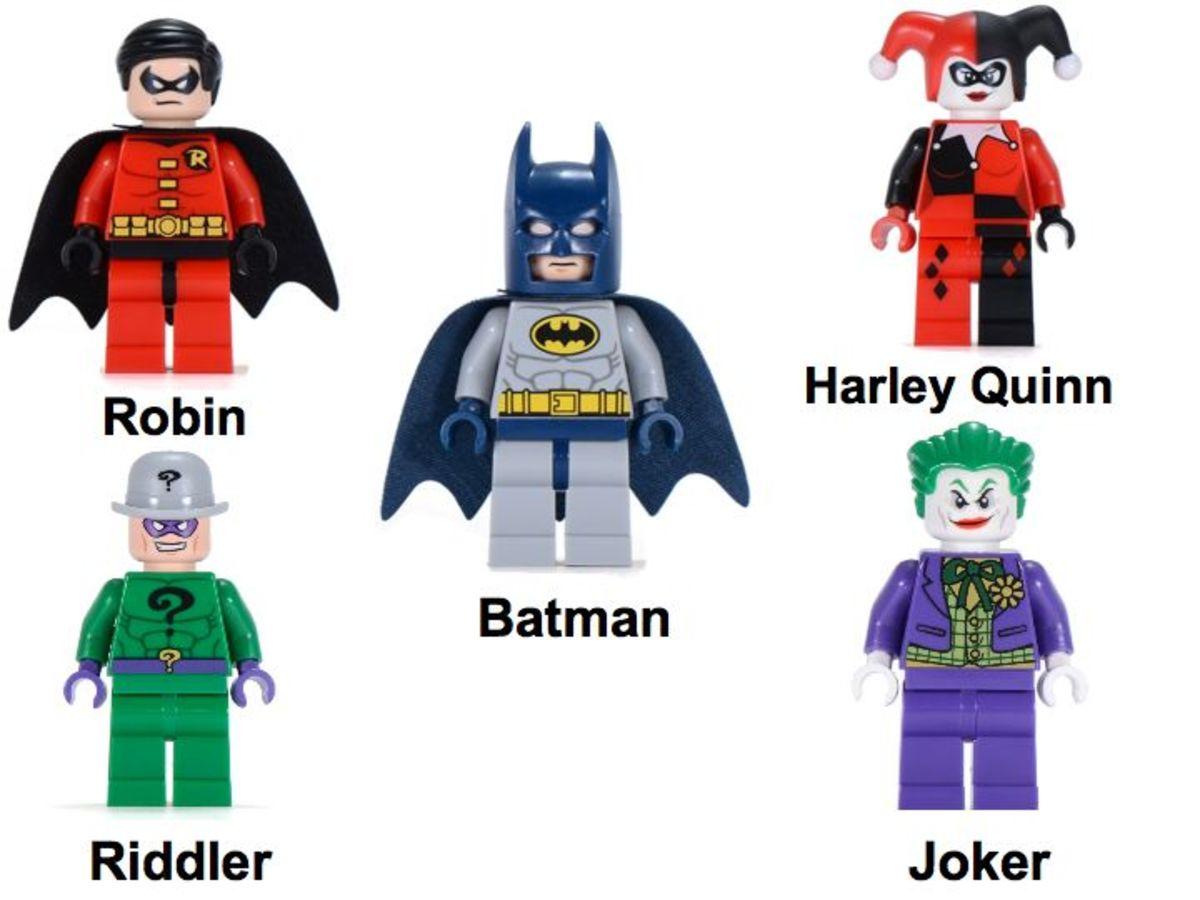 LEGO Super Heroes Dynamic Duo Funhouse Escape 6857 Minifigures