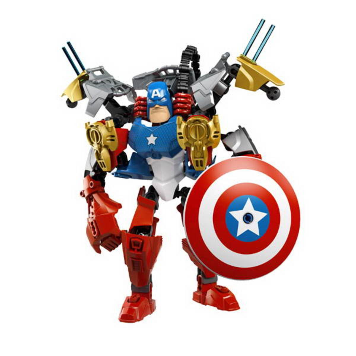 LEGO Ultrabuild Captain America 4597 Iron Man Combo Assembl