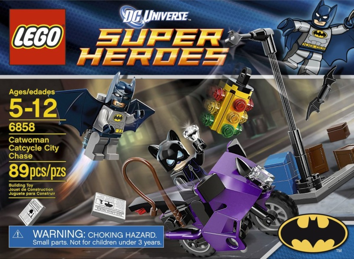 LEGO Super Heroes Catwoman Catcycle City Chase 6858 Box