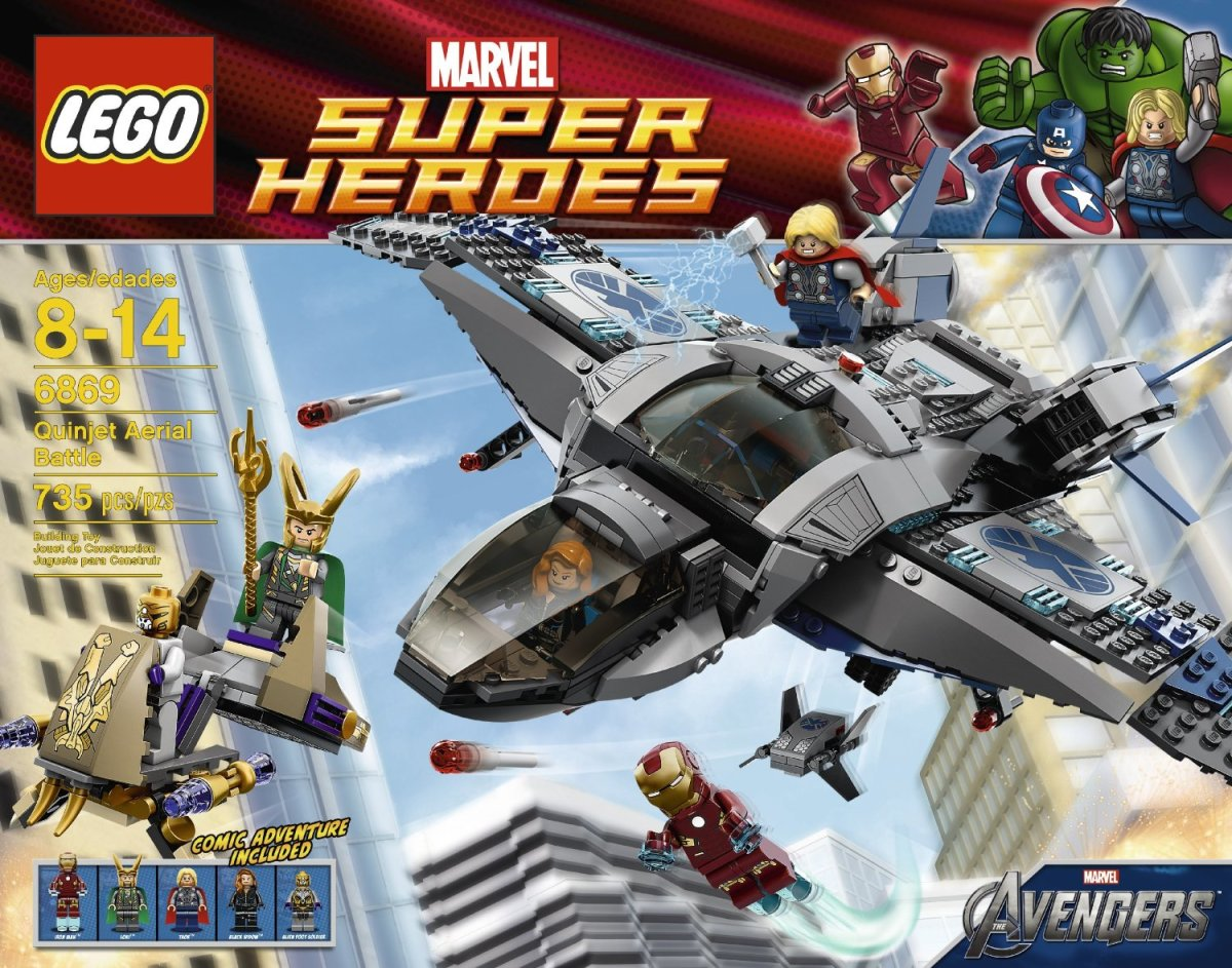 LEGO Super Heroes Quinjet Aerial Battle 6869 Box