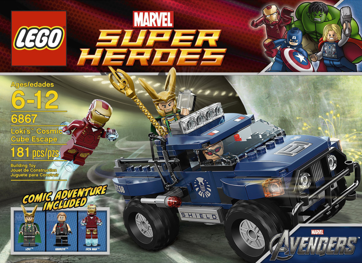 LEGO Super Heroes Loki's Cosmic Cube Escape 6867 Box