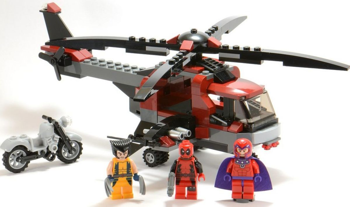 LEGO Super Heroes Wolverine's Chopper Showdown 6866 Assembled