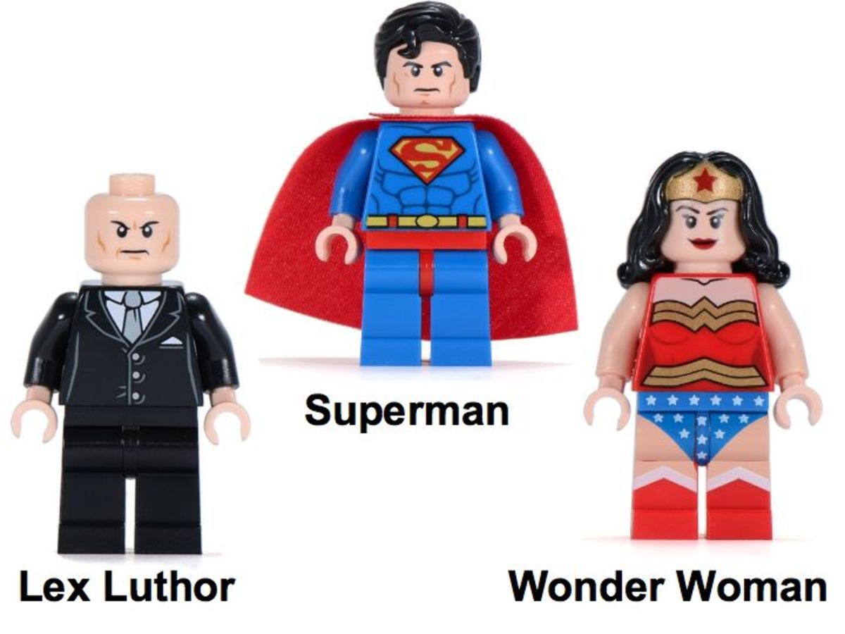 LEGO Super Heroes Superman vs. Power Armor Lex 6862 Minifigures