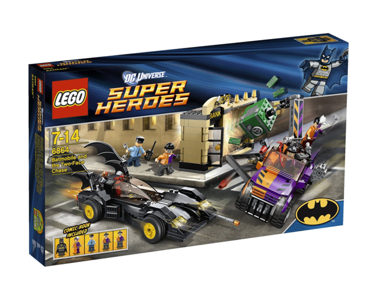 LEGO Super Heroes Batmobile and The Two-Face Chase 6864 Box