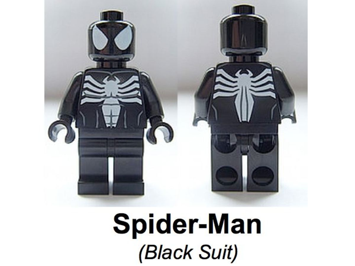LEGO Super Heroes Spider-Man Black Costume Minifigure Assembled