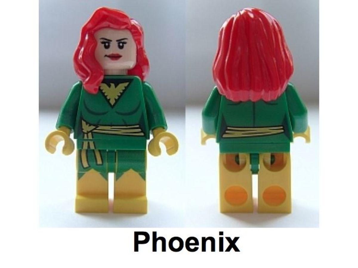LEGO Super Heroes Phoenix Minifigure Assembled