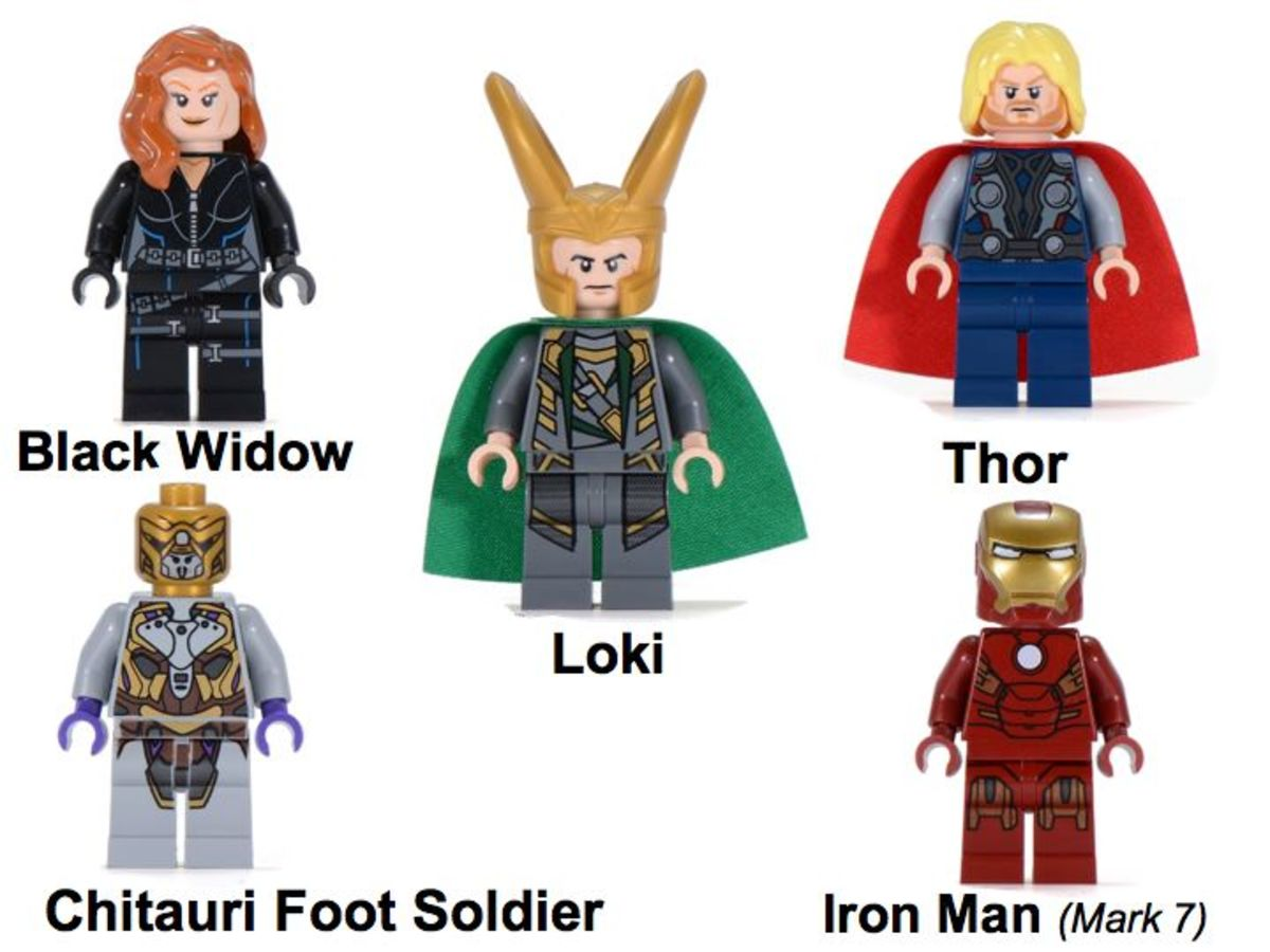 LEGO Super Heroes Quinjet Aerial Battle 6869 Minifigures
