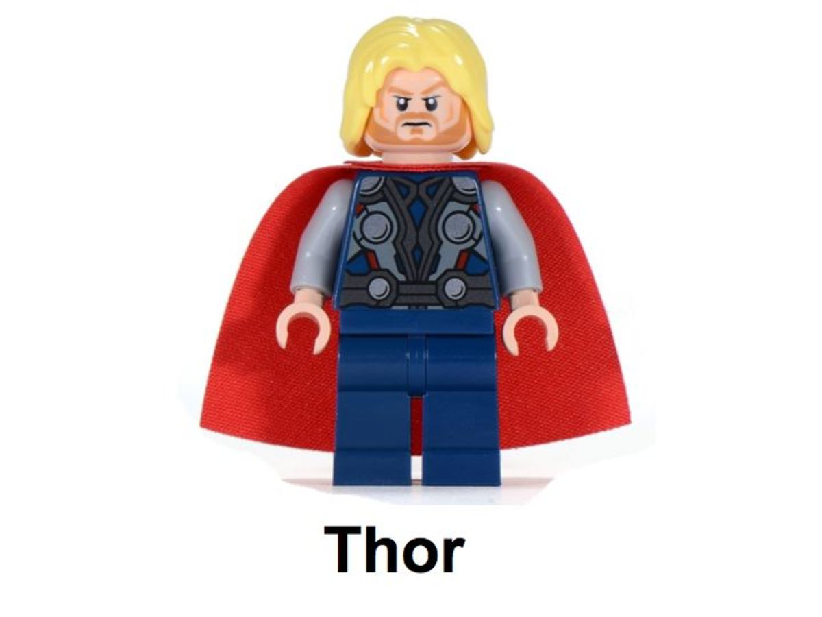 LEGO Super Heroes Thor and The Cosmic Cube 30163 Thor Minifigure