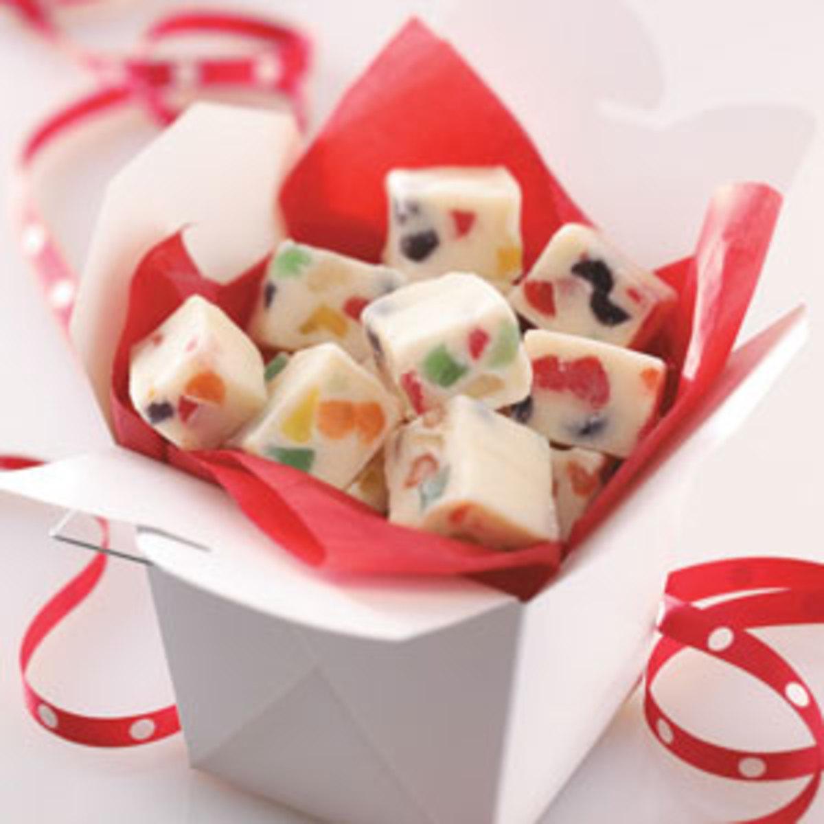 Gumdrop Christmas Fudge Recipe
