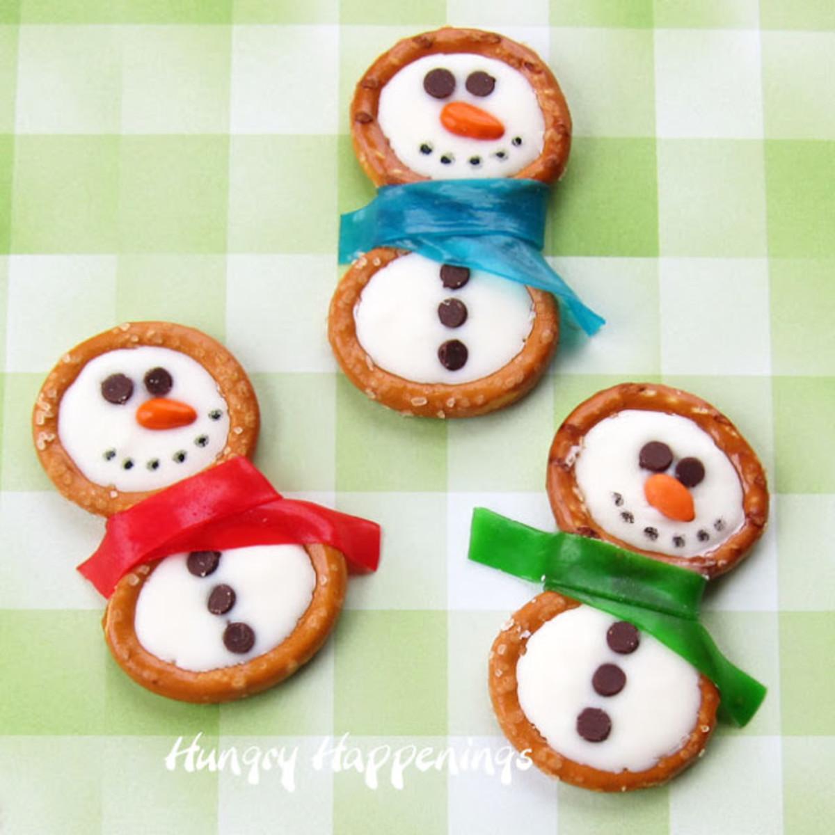 Frosty the Snowman Pretzel Treats