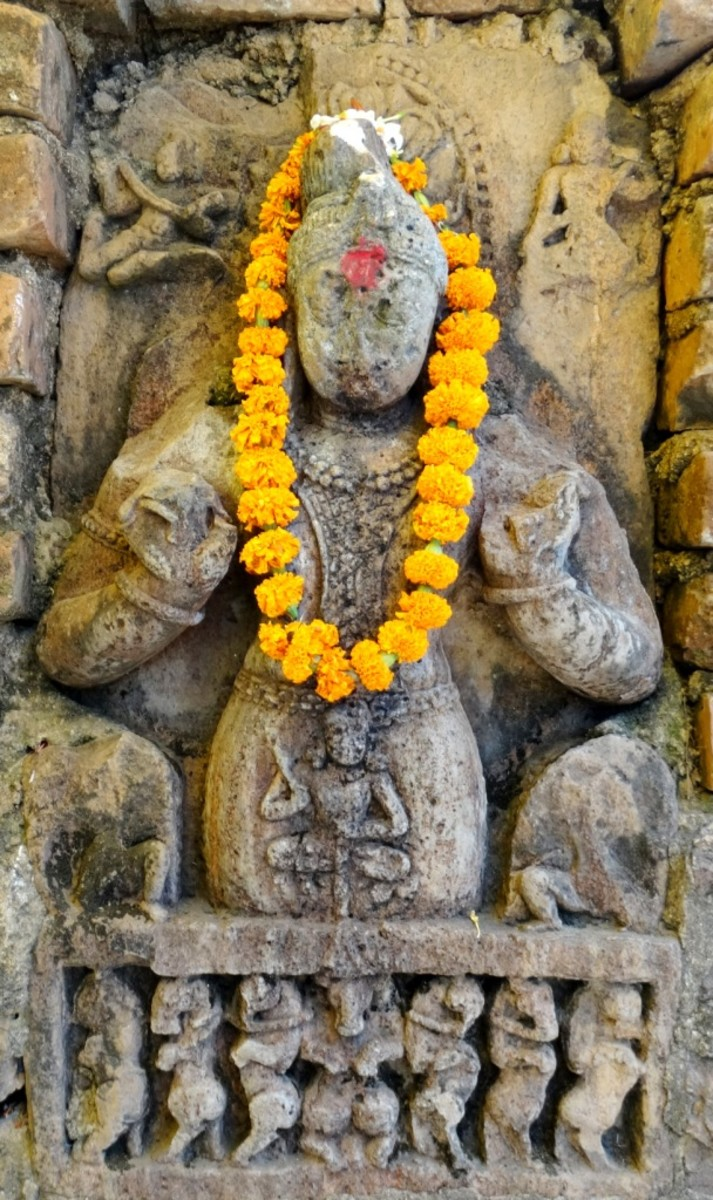 Stone idol of the Sun God